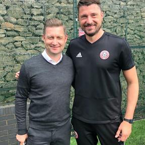 Ibrom with Matt Duke from Sheffield United FC