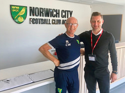 Ibrom with Colin Watts from Norwich City