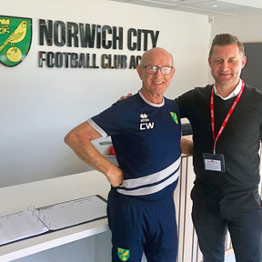 Ibro with Colin Watts from Noriwch City FC