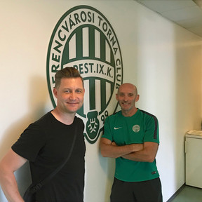 Ibrom with Pete Friar from Ferencvarosi