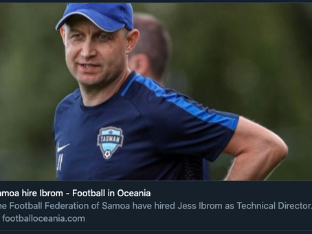 "Ibrom featured in "" Football in Oceania ""..."