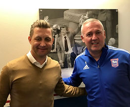 With Paul Lambert Ipswich Town FC July 2