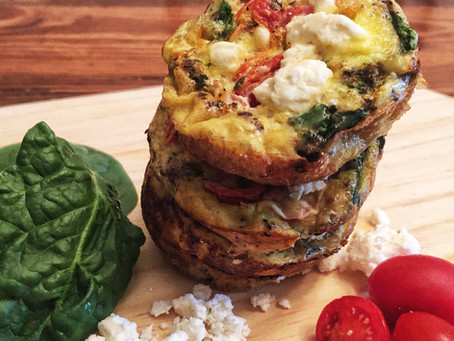 Savory Spinach and Tomato Mini Frittatas