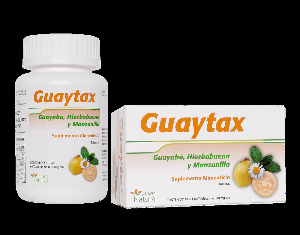 Guaytax presentación en Frasco con 60 Tabletas