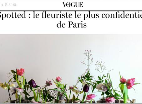 Vogue France のインタビューを受けました!