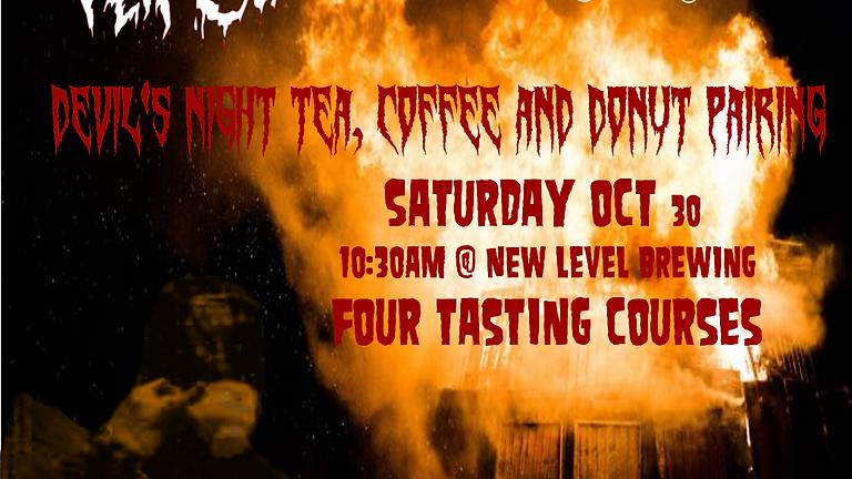 Devil's Night: Tea, Coffee, and Donut Pairing