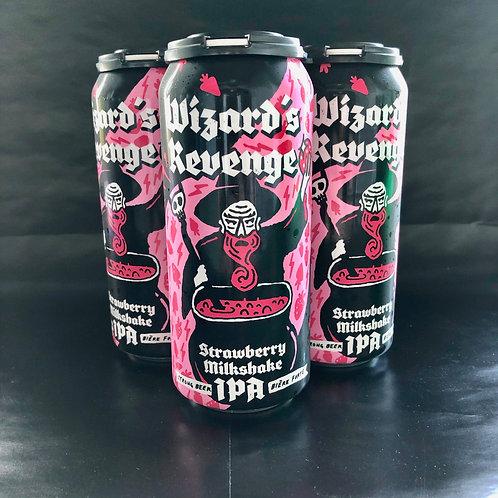 Wizard's Revenge Strawberry Milkshake IPA 7.5% ABV, 4x473mL
