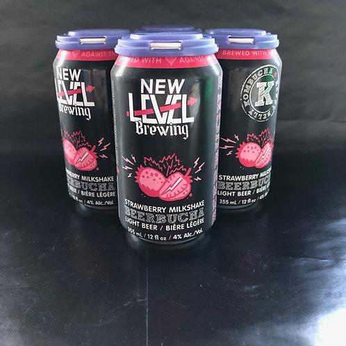 Strawberry Beerbucha 4.0%ABV, 4x355mL