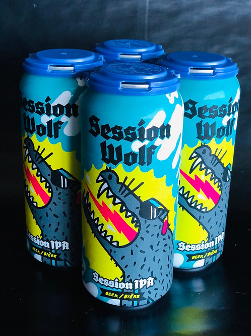 Session Wolf, Session IPA 4.5%ABV 4x473 mL