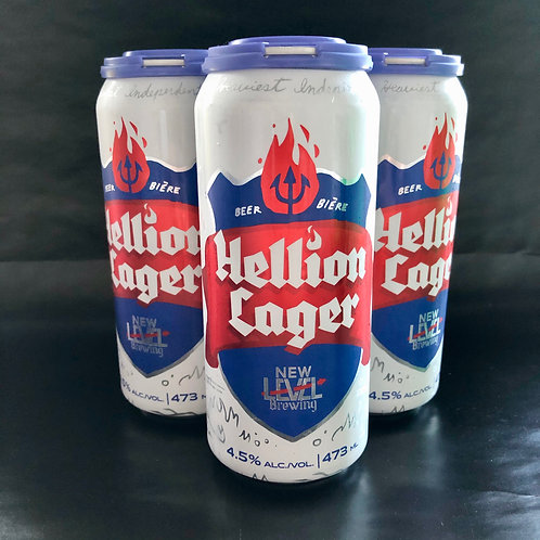 Hellion Lager, 4.5%ABV 4x473mL