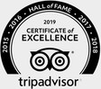 Trip Advisor Certificate of Excellence - Hall of Fame