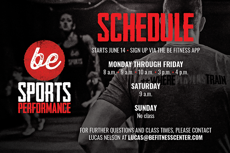 be SPORTS PERFORMANE summer hour