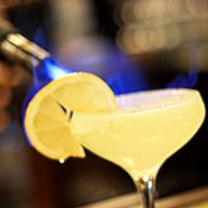 Flaming Lemon Tini