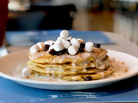 BESSIE'S S'MORES PANCAKES AT HOME