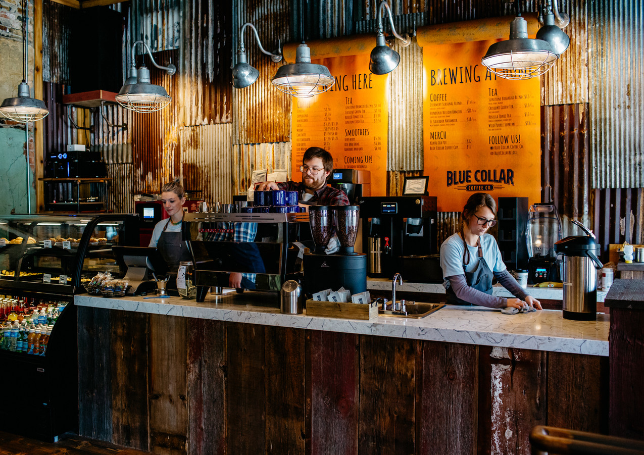 A look inside Blue Collar Coffee