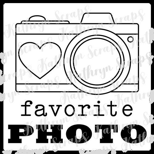 Favorite Photo Digital Stamps