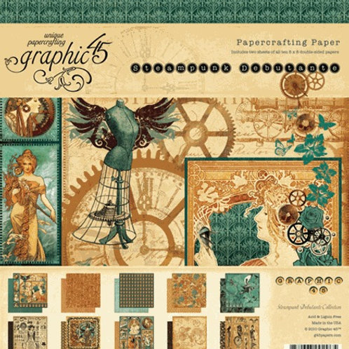 """Graphic 45 """"Steampunk Soiree"""" 12""""x12"""" Collection Pack"""