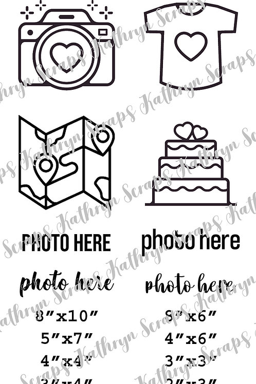 "Kathryn Scraps ""Photo Here"" 4x6 Stamp Set"