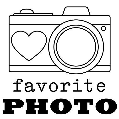 "Kathryn Scraps ""Favorite Photo"" Stamp - NO ""U"""