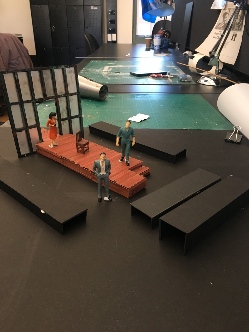 Initial set model for 'A View From The Bridge'