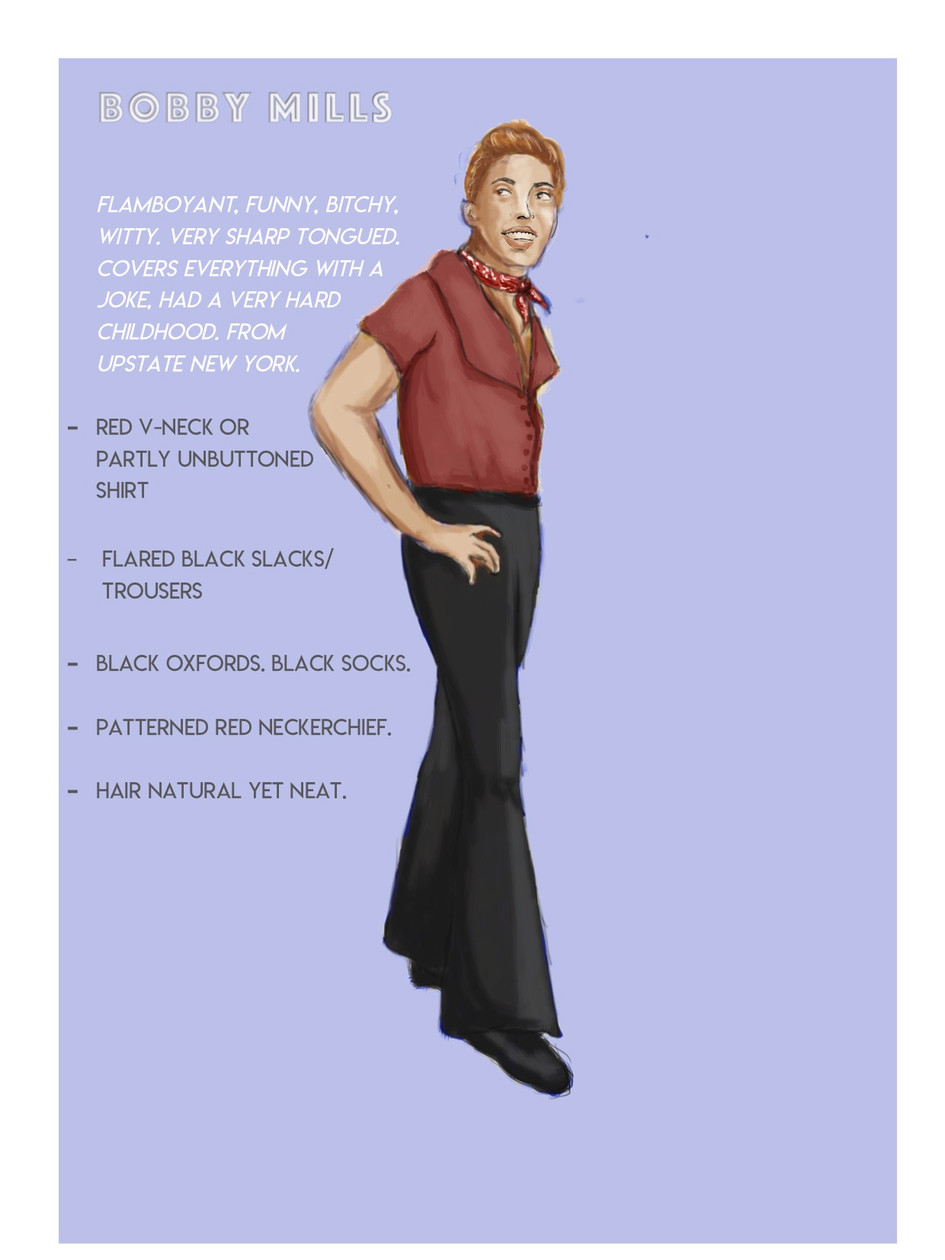 'A Chorus Line' Costume Rendering