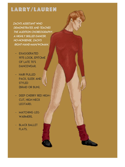 'A Chorus Line' Costume Rendering