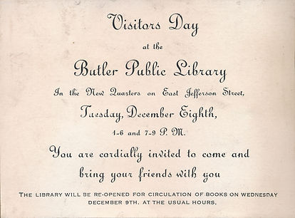 1908 open house invitation Little Red Sc