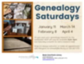 20 01 11 Genealogy Saturdays.png