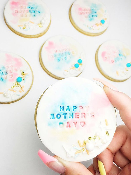 Dozen Water Colour Sugar Cookies W/ Embossed Message