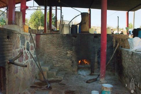 distillation area