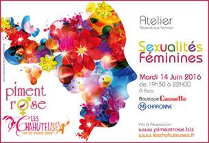 Complet - Atelier Sexualités Féminines avec Nathalie Giraud