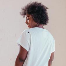 Sienna Apparel White Supermama Top Back