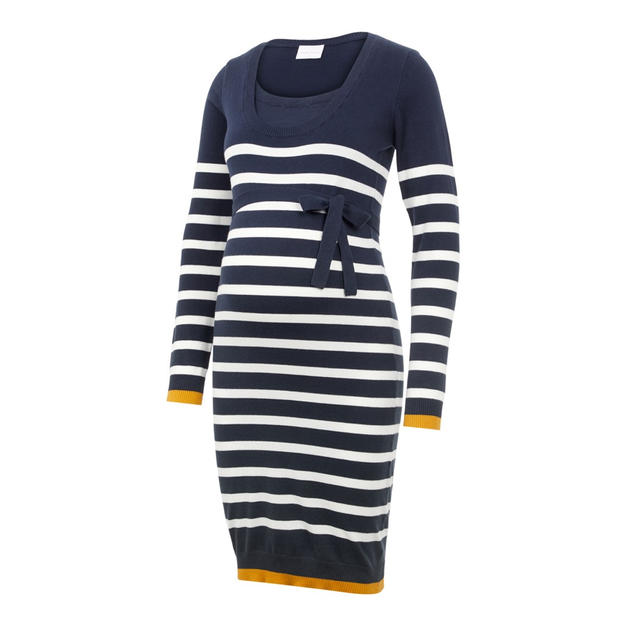 Mamalicious jumper dress with tie