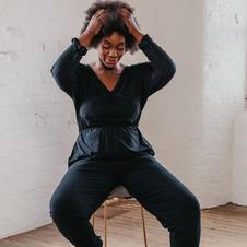 Sienna Apparel Black Jumpsuit