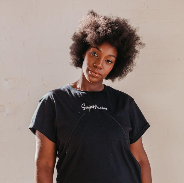 Sienna Apparel Black Supermama Top