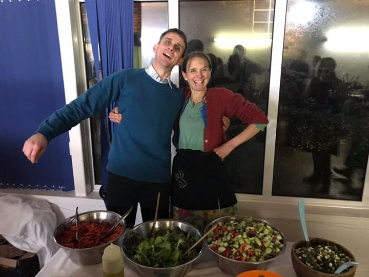 Brother and sister on the salads...