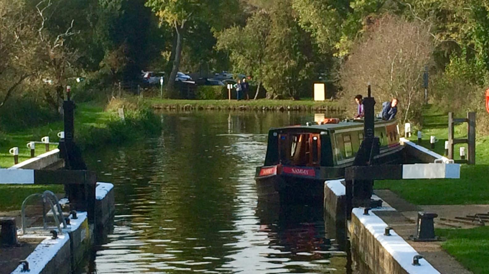 At Upper Barnwell Lock