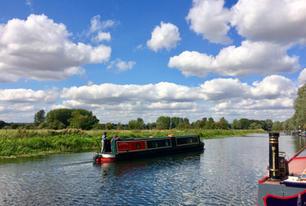 Boating at Barnwell Moorings, River Nene