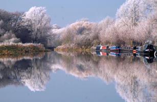 Frosty Day, Barnwell Moorings, River Nene