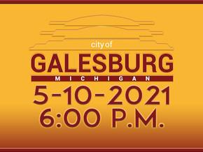 City Council Meeting - May 10th, 2021 6:00 P.M.
