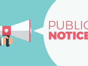 Public Hearing Notice - February 1st, 2021