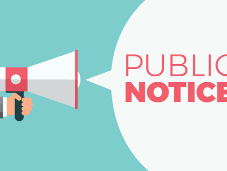 Public Hearing Notice - February 1st, 2021