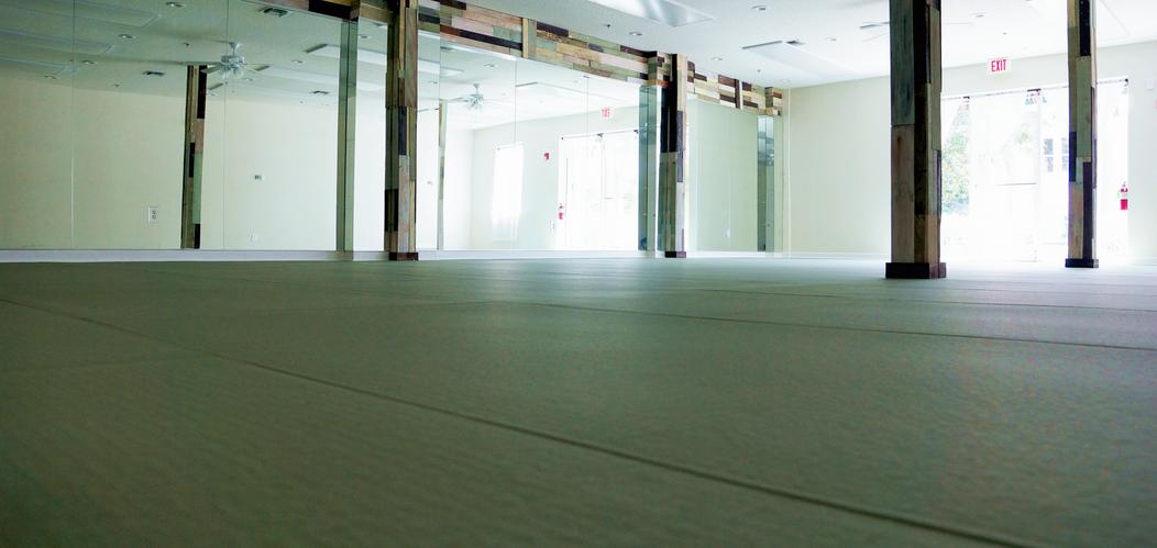 Practice room at Lala Hot Yoga Downtown Stuart