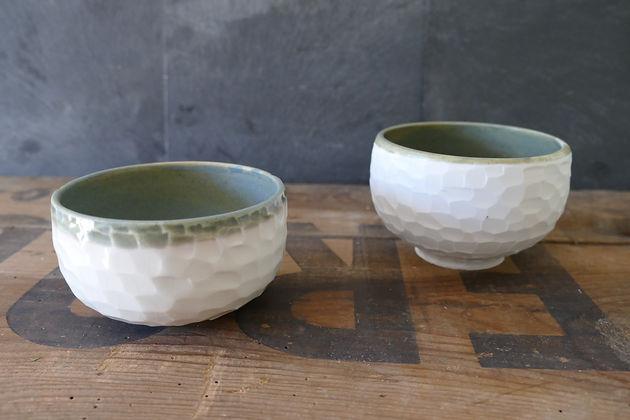bols en porcelaine sculptee-poterie-ceramique-artisanat-caroline bonnin-caolineceramiste