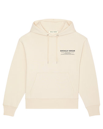 SOCIALLY AWEAR - OFF WHITE HOODIE