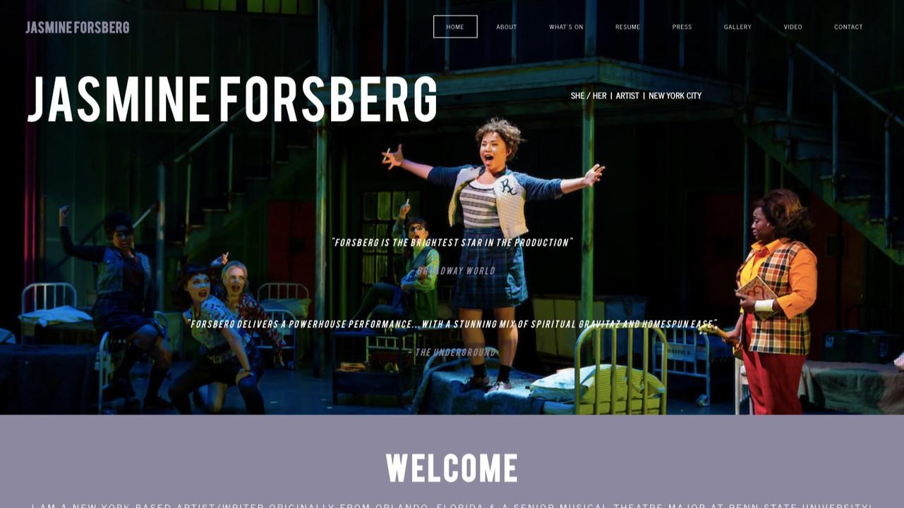 Jasmine Forsberg   She / her
