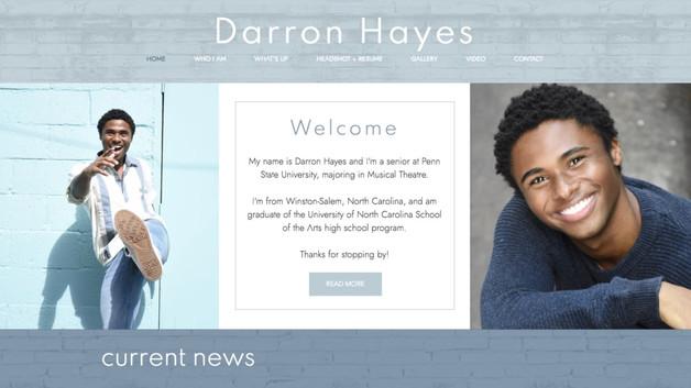 Darron Hayes   He / him