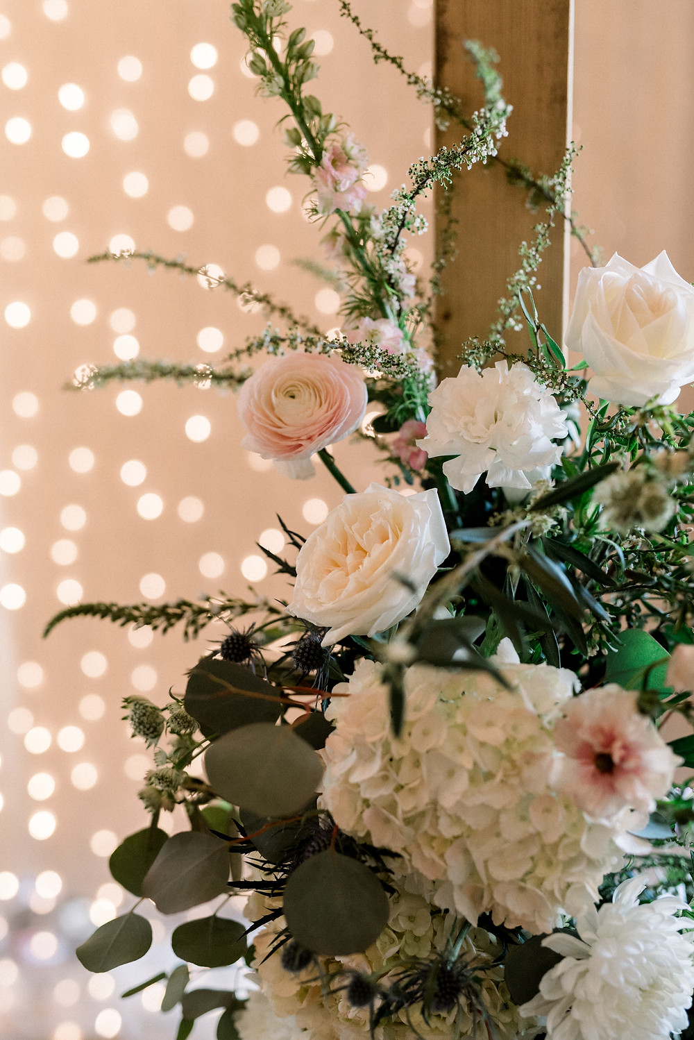 Blush Garden Wedding Arch Flowers The ICON Sioux Falls SD Thistle and Dot Floral Design