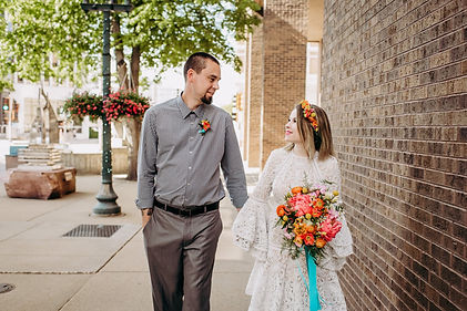 Thistle & Dot Floral Design Sioux Falls SD Bright Colorful Wedding Flowers Styled Shoot