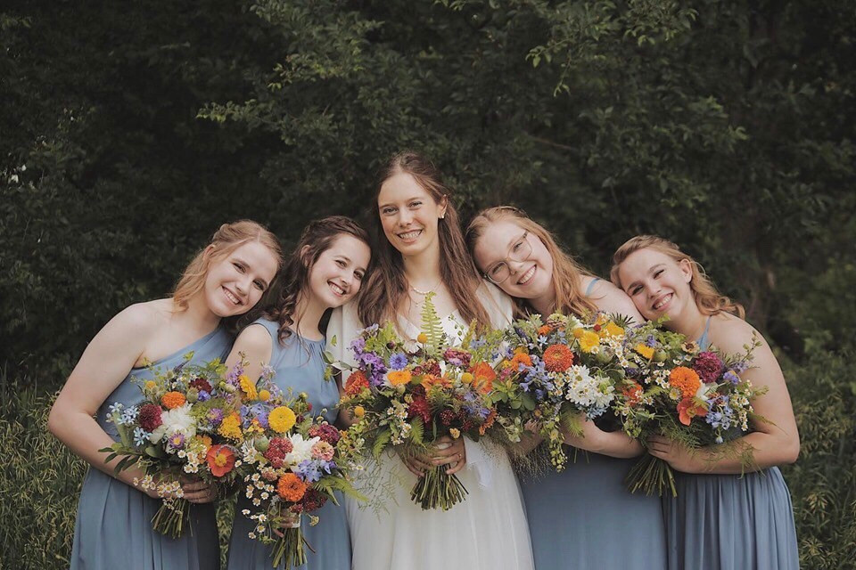 Wildflower Wedding Bridal Party